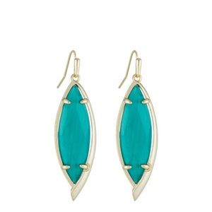 Kendra Scott maxwell earring in gold and emerald